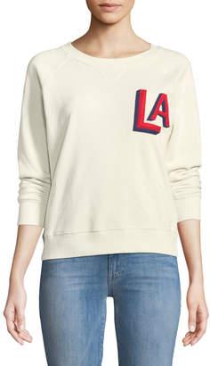 Mother Crewneck Raglan Sweatshirt with Topstitching
