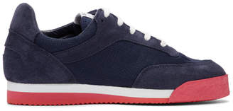 Comme des Garcons Navy and Red Spalwart Edition Pitch Sneakers