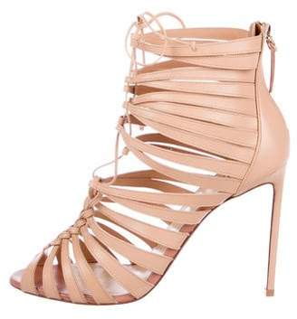 Francesco Russo Cage Lace-Up Sandals w/ Tags