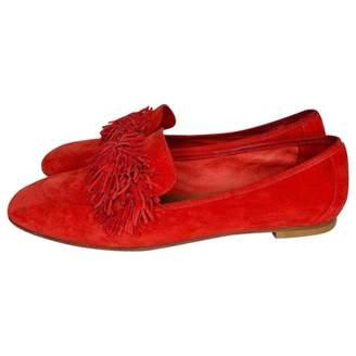 Aquazzura Red Suede Flats