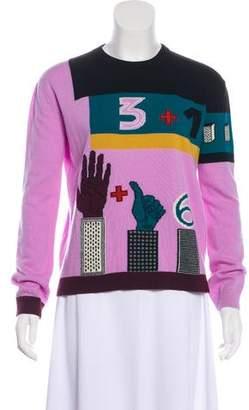 Valentino Wool-Blend Intarsia Sweater