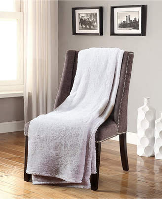 De Moocci Frosted Tip Fluffy Oversized Throw, Super Soft and Cozy
