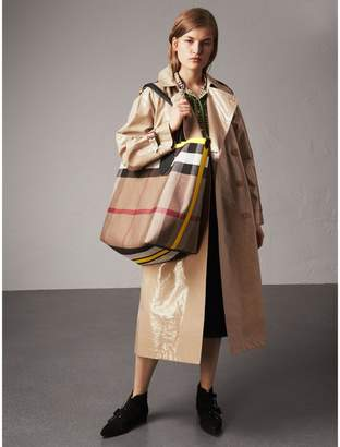 Burberry Raglan-sleeve Laminated Gabardine Trench Coat