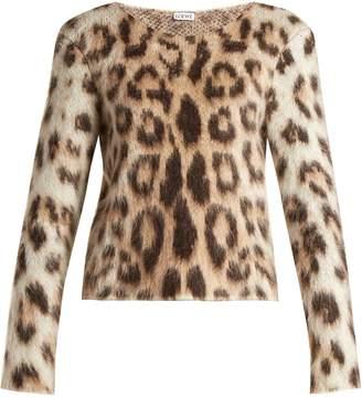 Loewe Leopard-print mohair sweater