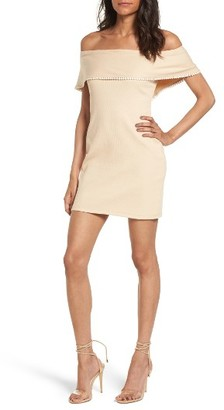 Women's Wayf Off The Shoulder Body-Con Dress $69 thestylecure.com