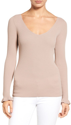 Chelsea28 Ribbed V-Neck Sweater $79 thestylecure.com