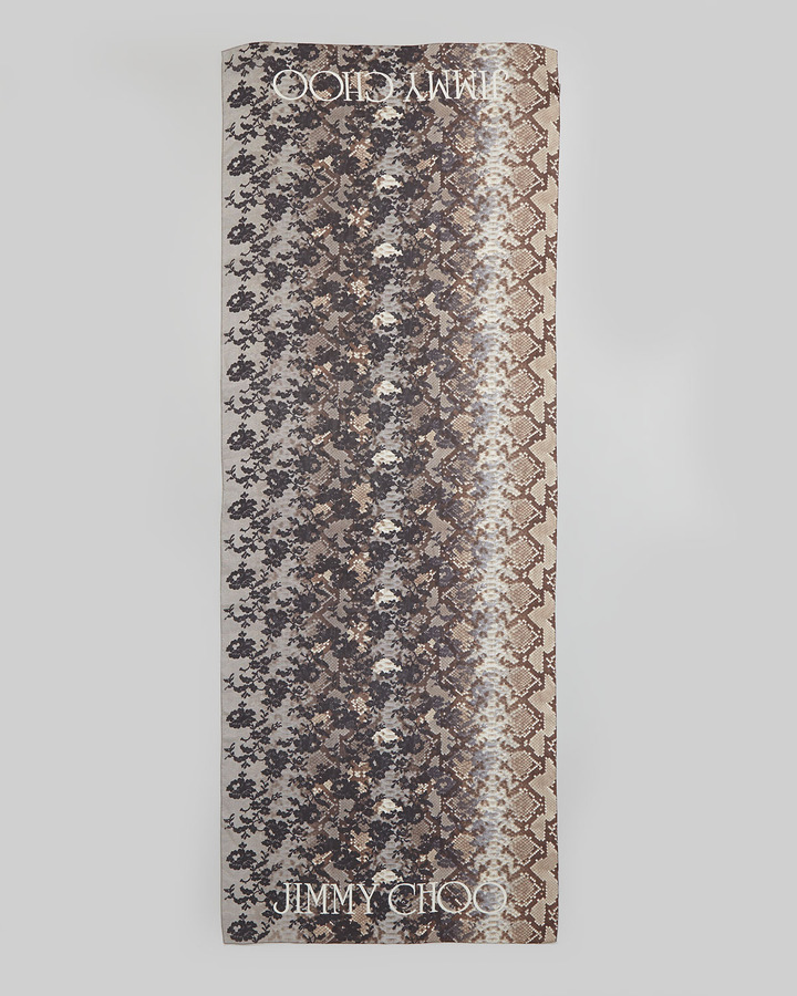 Jimmy Choo Soma Printed Silk Scarf