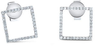 Cosanuova 18k White Gold Square Diamond Studs