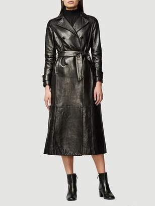Frame Leather Trench