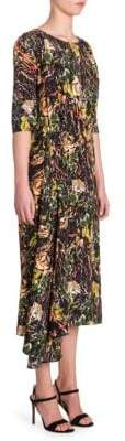 Prada Floral Midi Dress