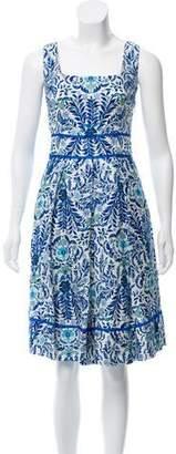 Tory Burch Floral Midi Dress