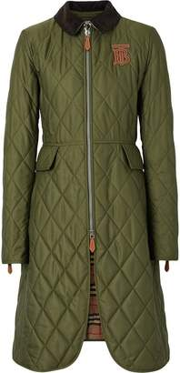 Burberry Monogram Motif Quilted Riding Coat