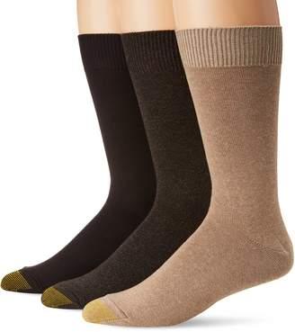 Gold Toe Men's Micro Flat Knit Crew Socks