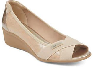 Anne Klein Jetta Perforated Wedge Sandals