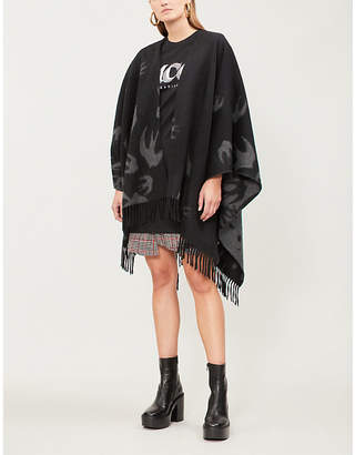 McQ Swallow swarm wool poncho