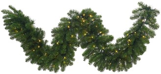 "Vickerman 25-ft. x 24"" Pre-Lit Grand Teton Artificial Christmas Garland"