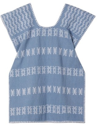 Pippa Holt Kids - No. 51 Embroidered Kaftan - Womens - Blue White