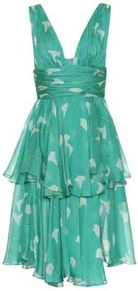 Caroline Constas Paros floral silk dress