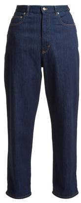 Golden Goose Kim High Rise Straight Leg Jeans - Womens - Indigo