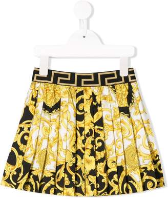 215f210665a3 Versace baroque print pleated skirt
