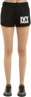 Ivy Park Programme Cotton Blend Jersey Shorts