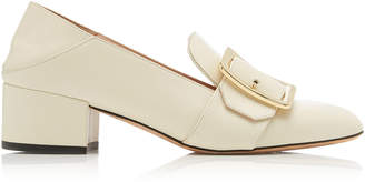 Bally Janelle Buckled Leather Loafers