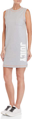 Juicy Couture Fleece Logo Pocket Shift Dress
