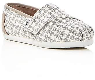 Toms Girls' Classic Lace Slip-On Sneakers - Baby, Walker, Toddler