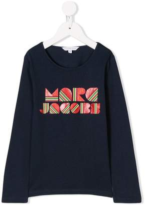 Little Marc Jacobs glitter rainbow print top