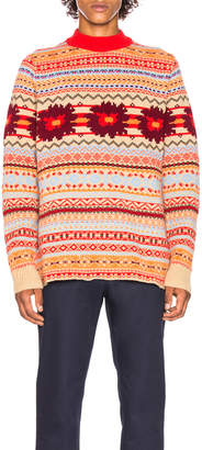 Sacai Floral Knit Pullover