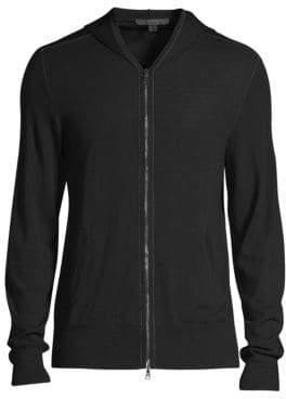 John Varvatos Zip-Front Hoodie Sweater