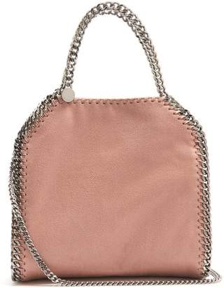 Stella McCartney Falabella Mini Faux Suede Cross Body Bag - Womens - Light Pink