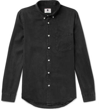 NN07 Falk Slim-Fit Button-Down Collar Tencel Shirt