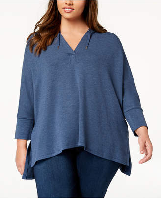 Style&Co. Style & Co Plus Size V-Neck Hoodie, Created for Macy's