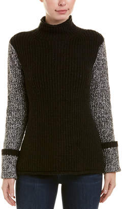 Kensie Turtleneck Ribbed Sweater