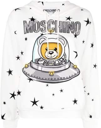 Moschino Teddy logo hooded sweatshirt