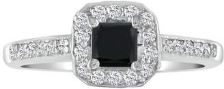 Black Diamond Hansa 1ct Engagement Ring in 14k White Gold, H-I, SI2-I1, Avail.