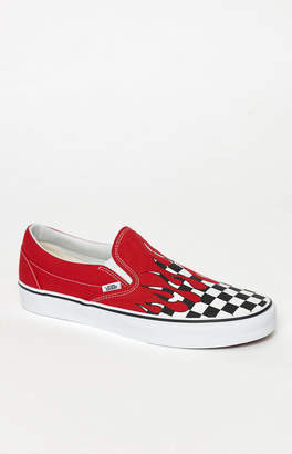 Vans Checker Flame Classic Slip-On Shoes