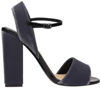 The Seller Grey Velvet Sandals