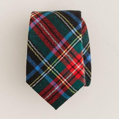 Boys' Black Stewart tartan tie