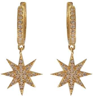 Wild Hearts - Lamat Star Huggie Hoop Earrings Gold