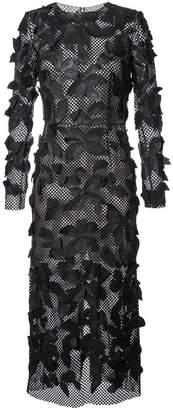 appliqué detail dress