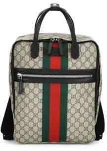 Gucci Logo-Print Backpack