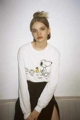 Urban Outfitters Peanuts Long Sleeve Tee