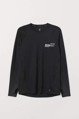 H&M Long-sleeved running top - Black