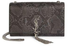 Saint LaurentSaint Laurent Medium Kate Monogram Tassel Python Chain Shoulder Bag