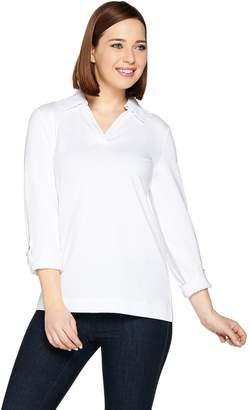 Susan Graver Weekend Stretch Cotton Modal Long Sleeve Top