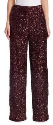 Victoria Beckham Victoria, Sequin Wide-Leg Pants