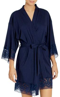 83d920ebb2 Jonquil In Bloom by Lace-Trim Wrap Robe