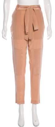 Juan Carlos Obando Silk High-Rise Pants w/ Tags